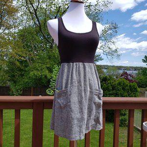 PINS AND NEEDLES 2-Tone Black White Dress Size S